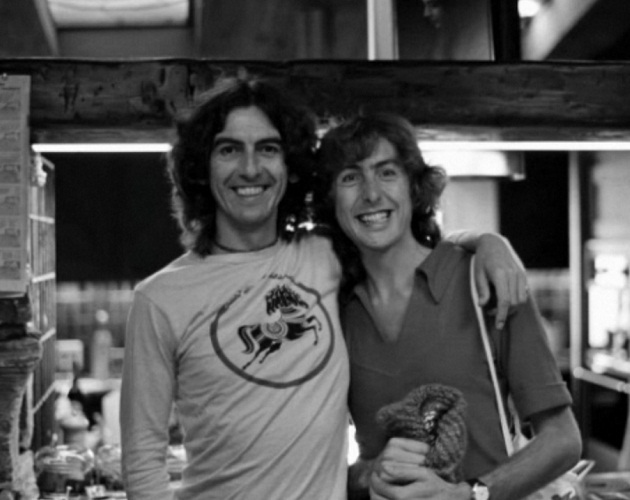 George Harrison and Eric Idle