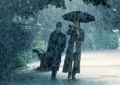 Withnail & I - Withnail Marwood in park rain